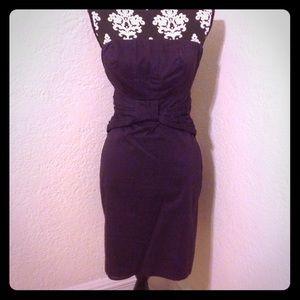 The Limited purple strapless dress waist detail